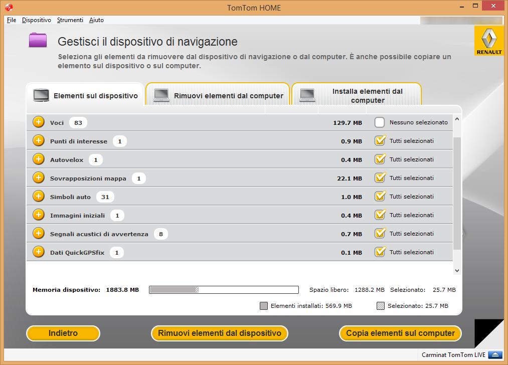 Clonare SD Carminat TomTom Live - Renault - Simone Panziera